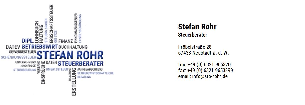 Stefan Rohr | Steuerberater | Neustadt an der Weinstraße